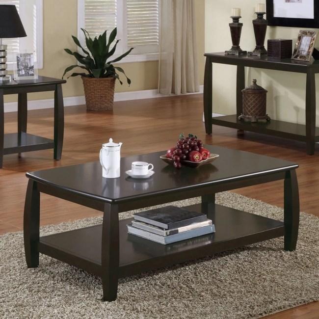 Coaster Furniture Coffee Table with Shelf - Cappuccino
