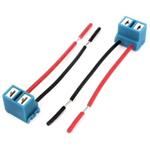 small resolution of h7 headlight wiring harness socket wire connector plug 2pcs walmart com