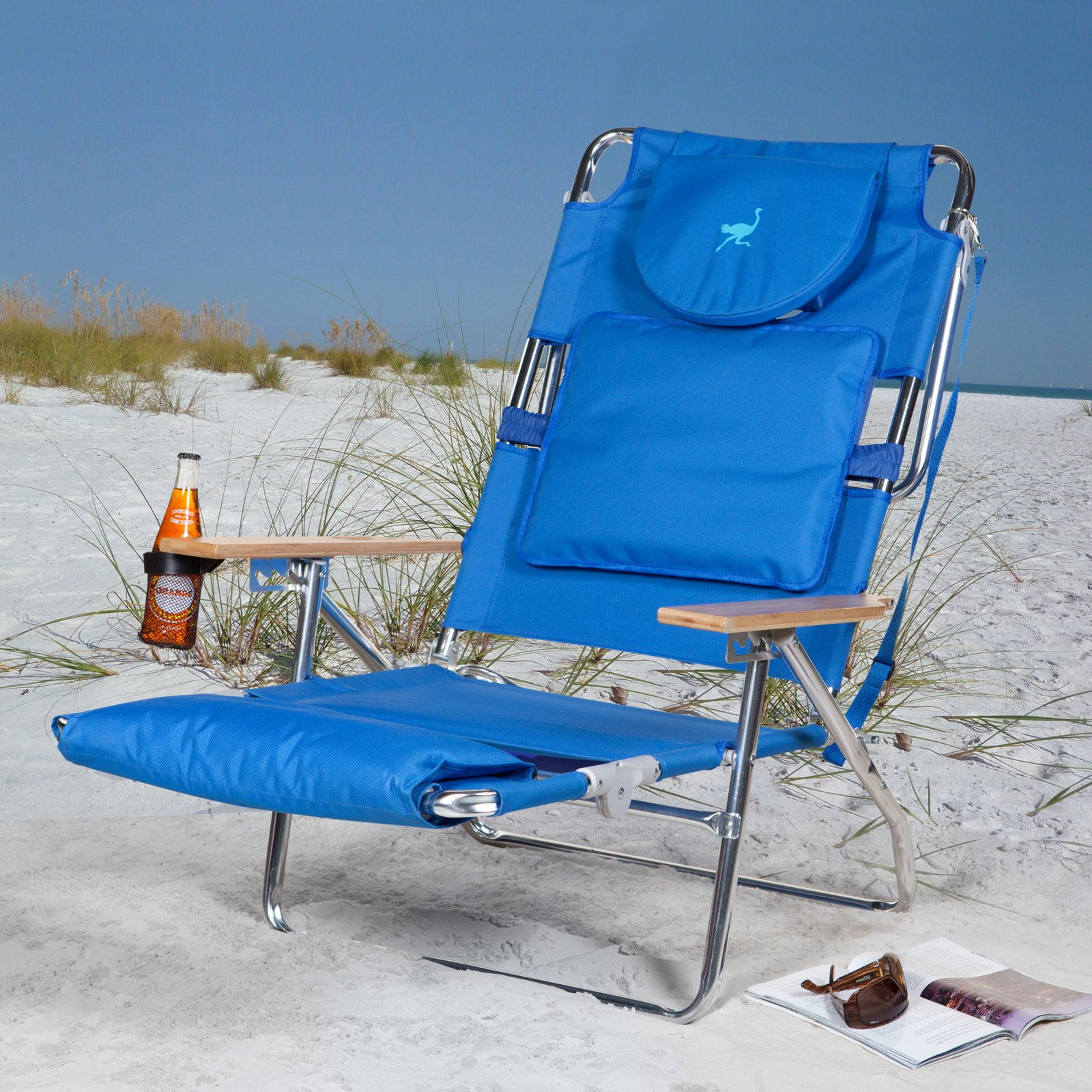 outdoor beach chairs best computer gaming chair deluxe padded ostrich sport 3 n 1 walmart com