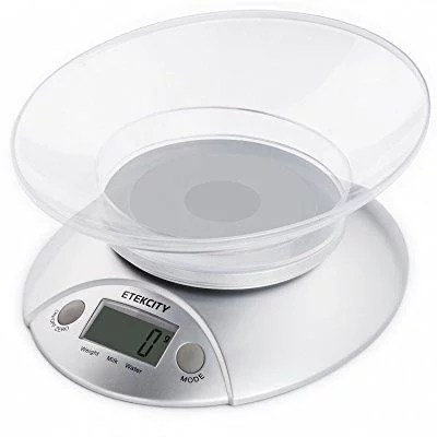 kitchen weight scale mobile home cabinets discount etekcity digital food and multifunction with removable bowl 11 lb 5kg