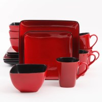 Better Homes and Gardens Rave 16-Piece Square Dinnerware ...