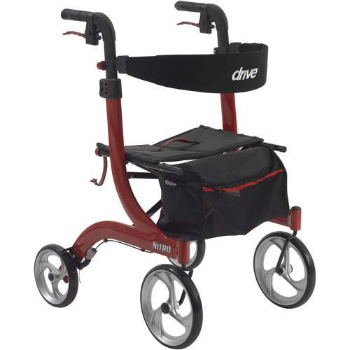 Drive Medical Nitro Euro Style Walker Rollator Red