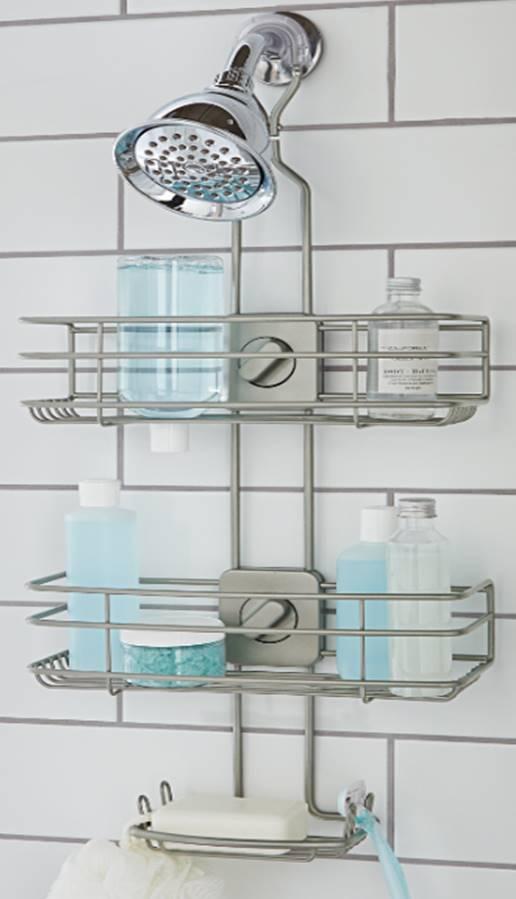 better homes gardens adjustable shower caddy satin nickel walmart com