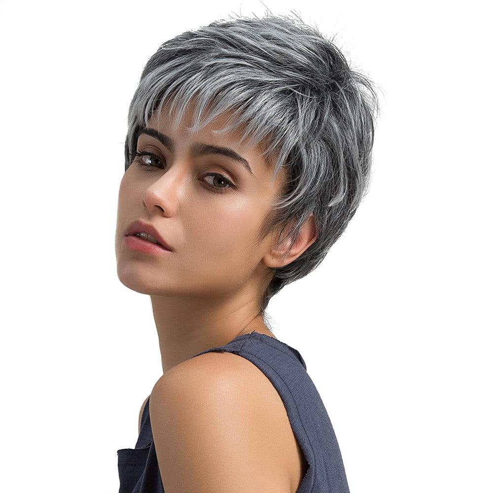 natural light gray straight short