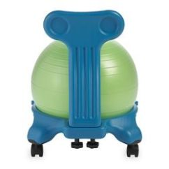Balance Chair For Kids Gray Leather Dining Chairs Gaiam Ball Blue Green Walmart Com