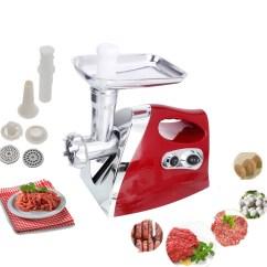 Electric Grinder Kitchen Solid Wood Island Ktaxon New 1300w Meat Set Slicer Qty