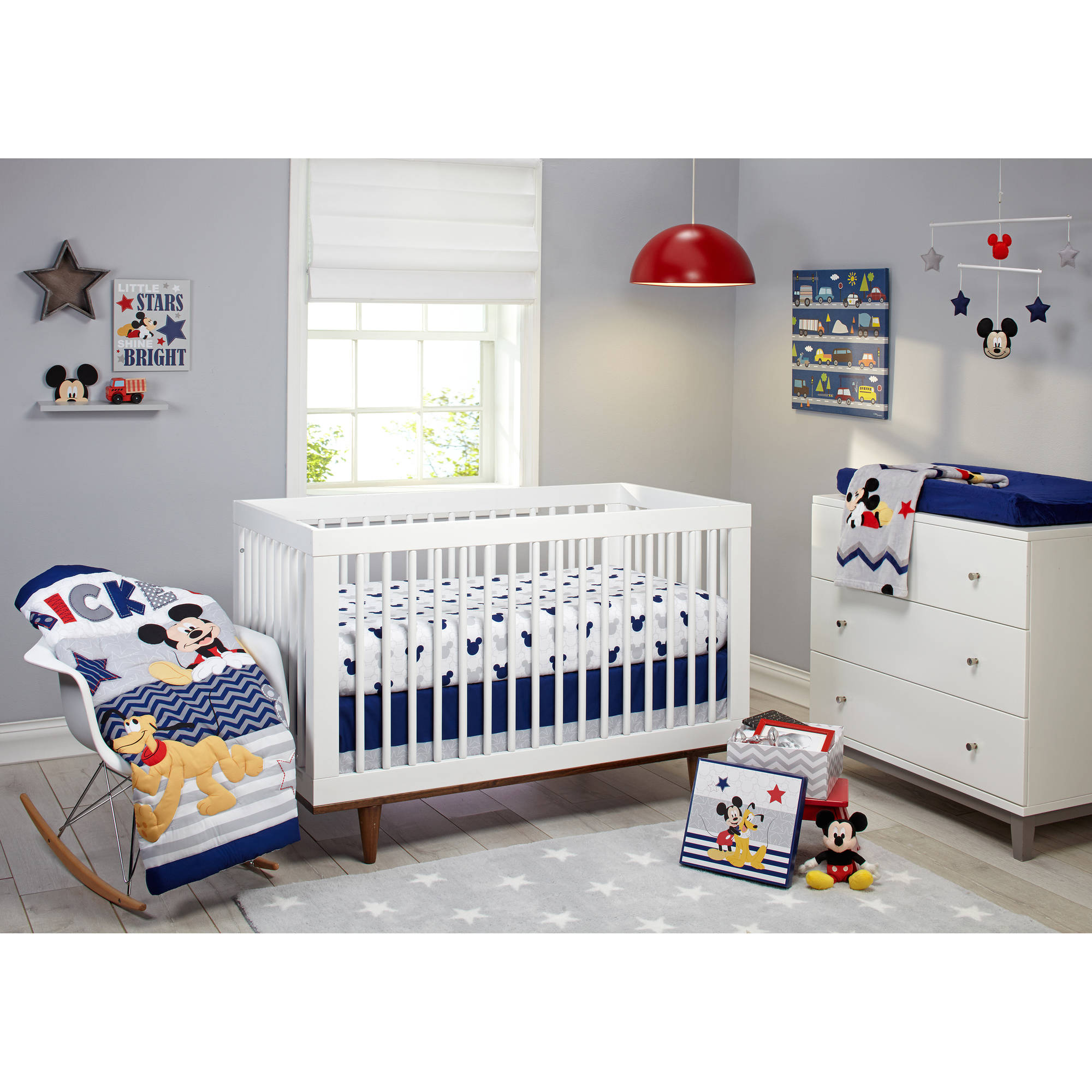 Disney Let S Go Mickey Ii 4 Piece Crib Bedding Set Walmart Com Walmart Com