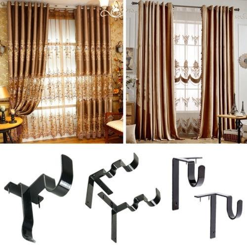 fast kwik hang double center support curtain rod bracket window frame bracket