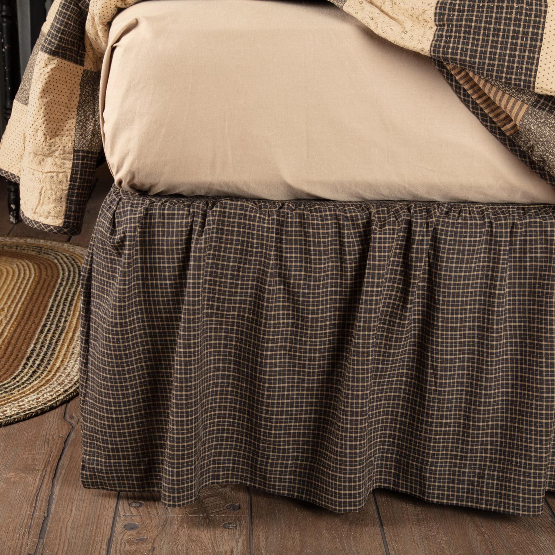 Country Black Primitive Bedding Prim Grove Cotton Split