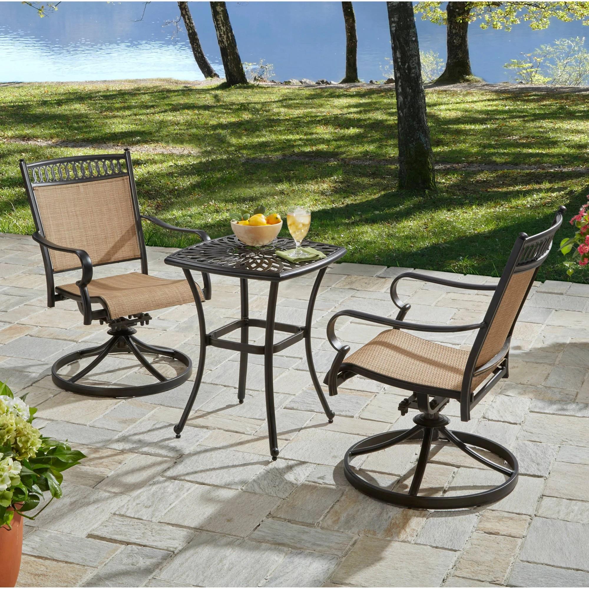 3 piece outdoor table and chairs wooden adirondack better homes gardens warrens bistro set walmart com