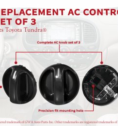 ac climate control knob set of 3 replaces 55905 0c010 559050c010 fits 2000 2001 2002 2003 2004 2005 2006 toyota tundra air conditioner  [ 3307 x 1868 Pixel ]