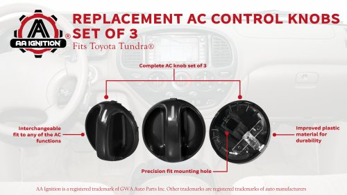 small resolution of ac climate control knob set of 3 replaces 55905 0c010 559050c010 fits 2000 2001 2002 2003 2004 2005 2006 toyota tundra air conditioner