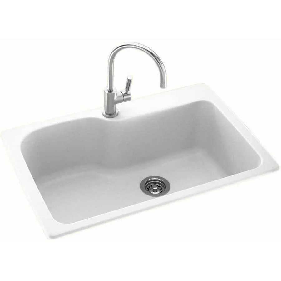 33 x 22 kitchen sink hood reviews swan kssb 3322 010 swanstone single basin dual mount available in various colors walmart com
