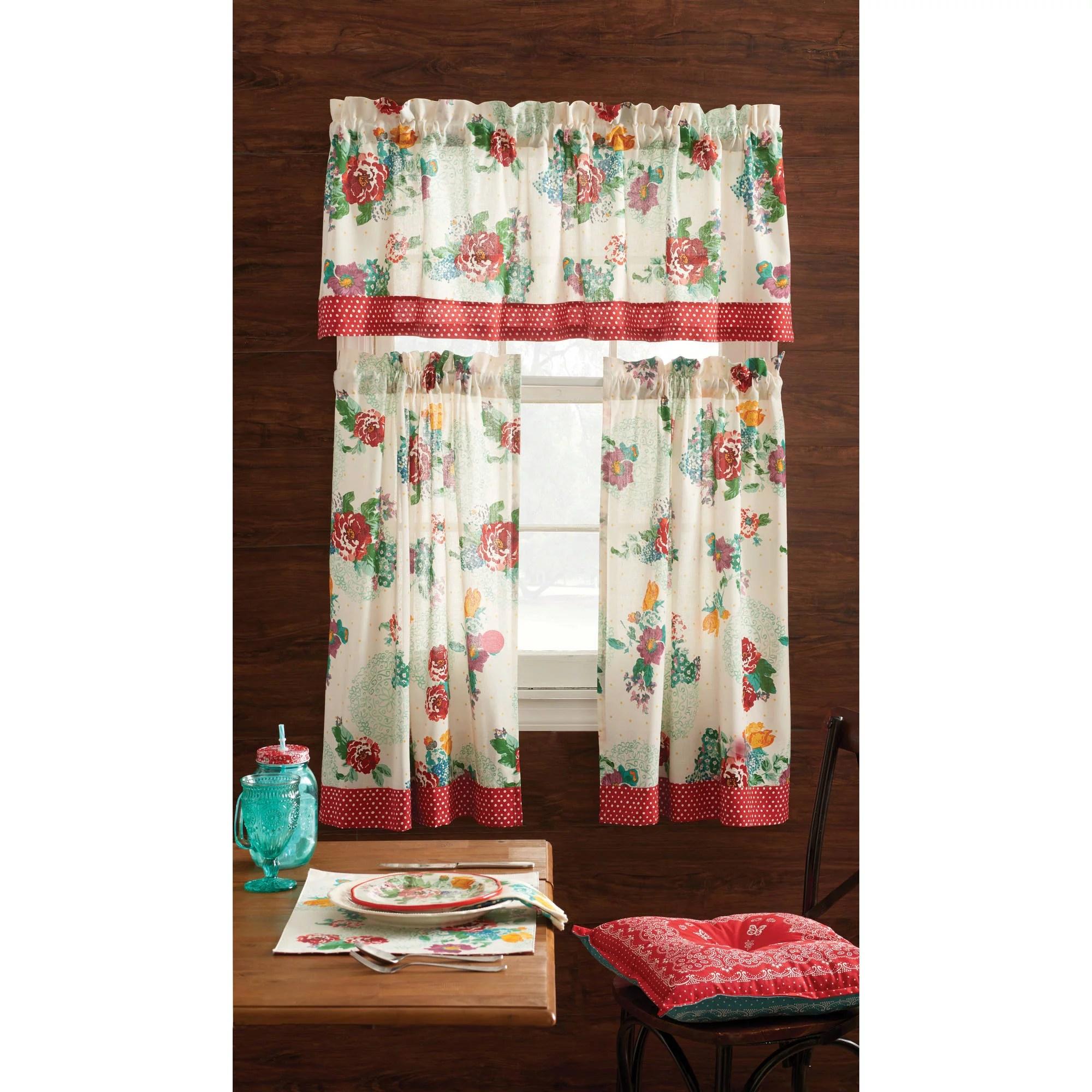 فم شواية نمط walmart kitchen curtains