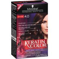 Schwarzkopf Keratin Color Anti-Age Hair Color Kit, 4.0 ...