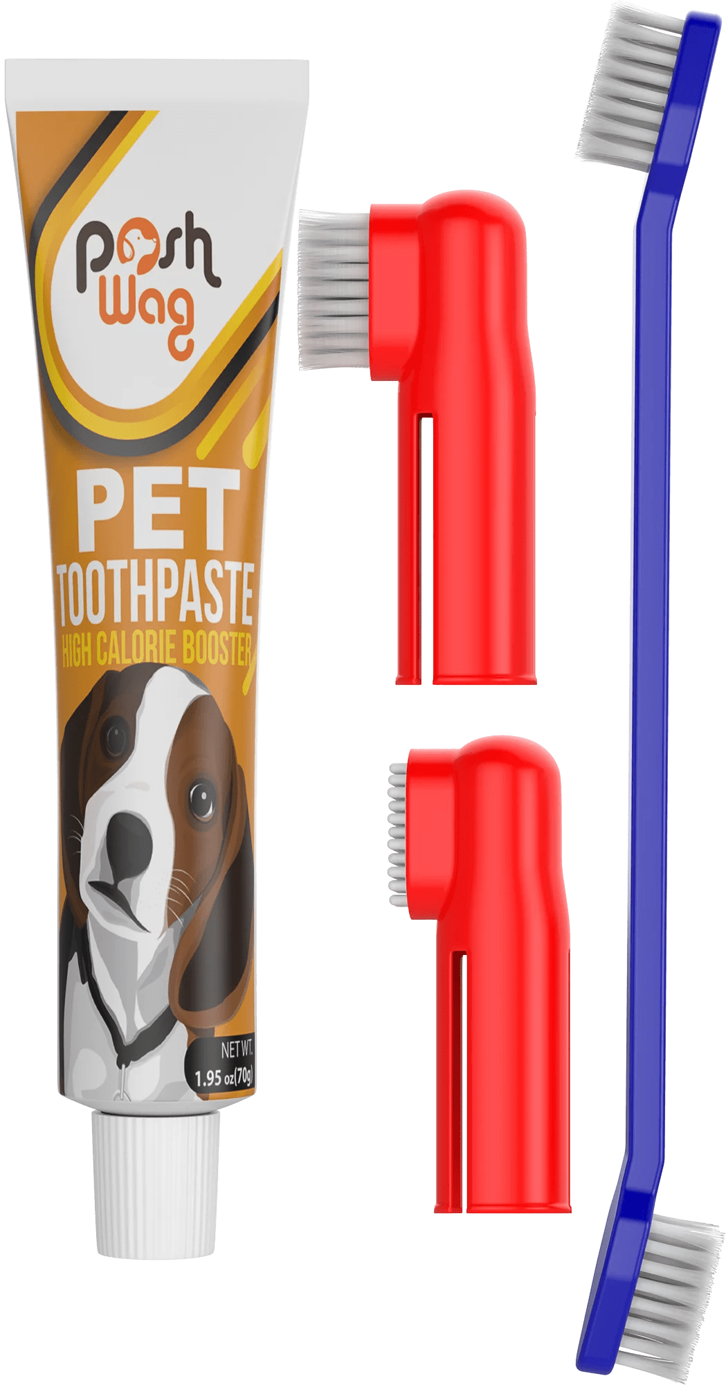 soft silicone double sided dog toothbrush with long curved handle 1 95oz
