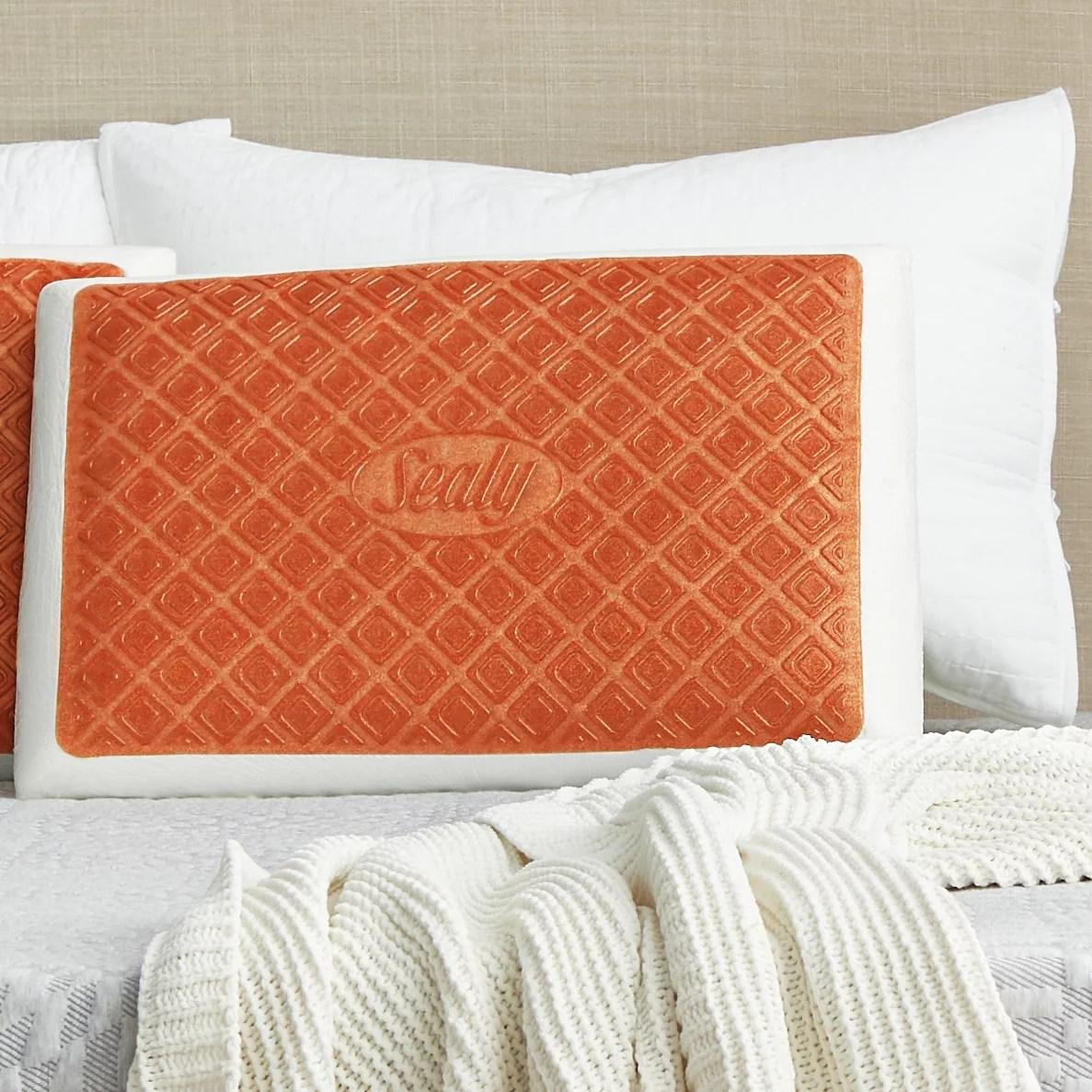 sealy memory foam gel standard pillow