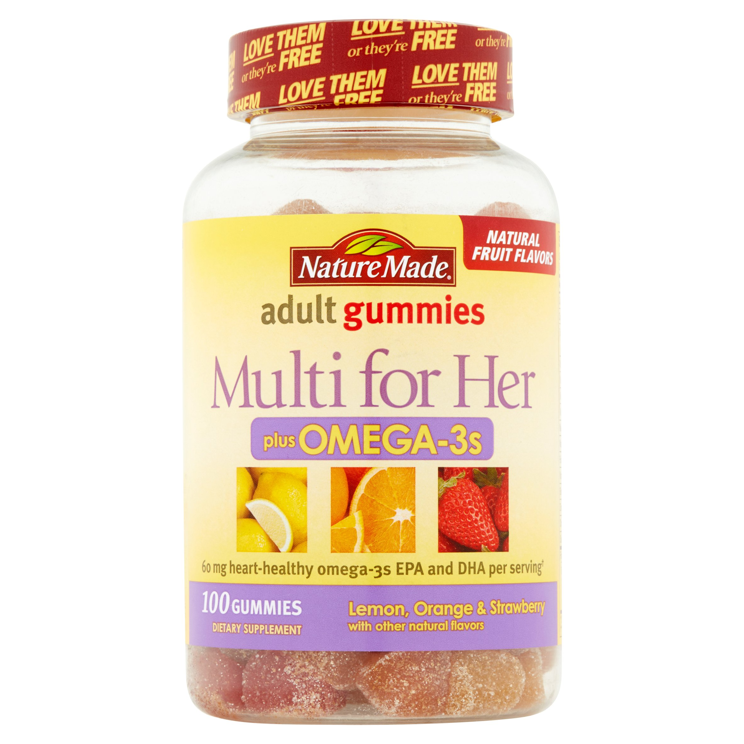 Nature Made Adult Gummies Multi for Her Plus Omega-3s ...