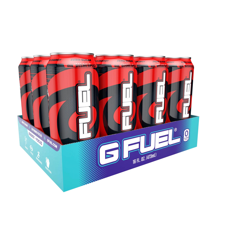 (12 Cans) G Fuel Black On Blackberry Sugar Free Energy ...