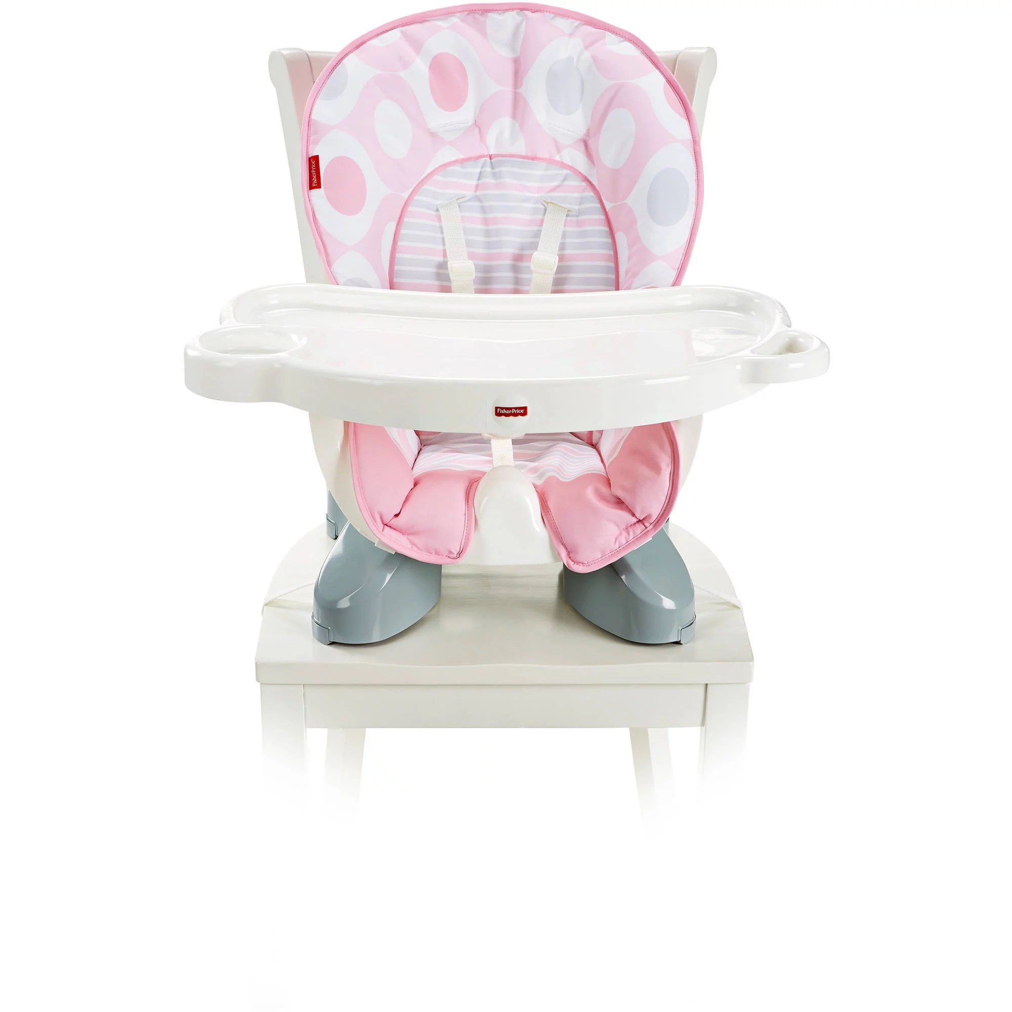 FisherPrice SpaceSaver High Chair  Pink Ellipse