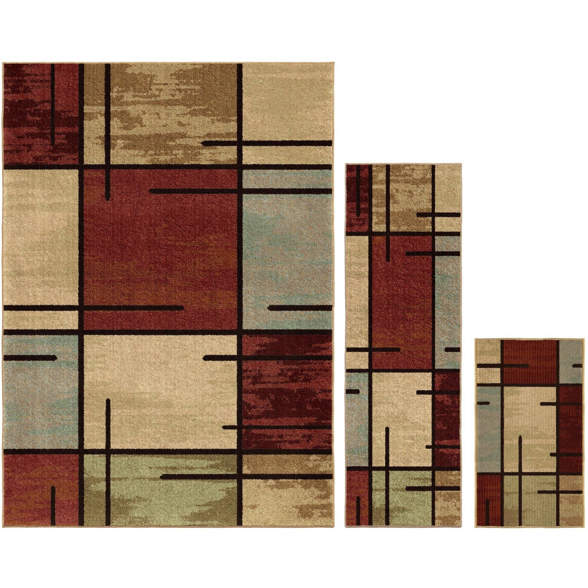 Better Homes and Gardens Spice Grid 3Piece Area Rug Set