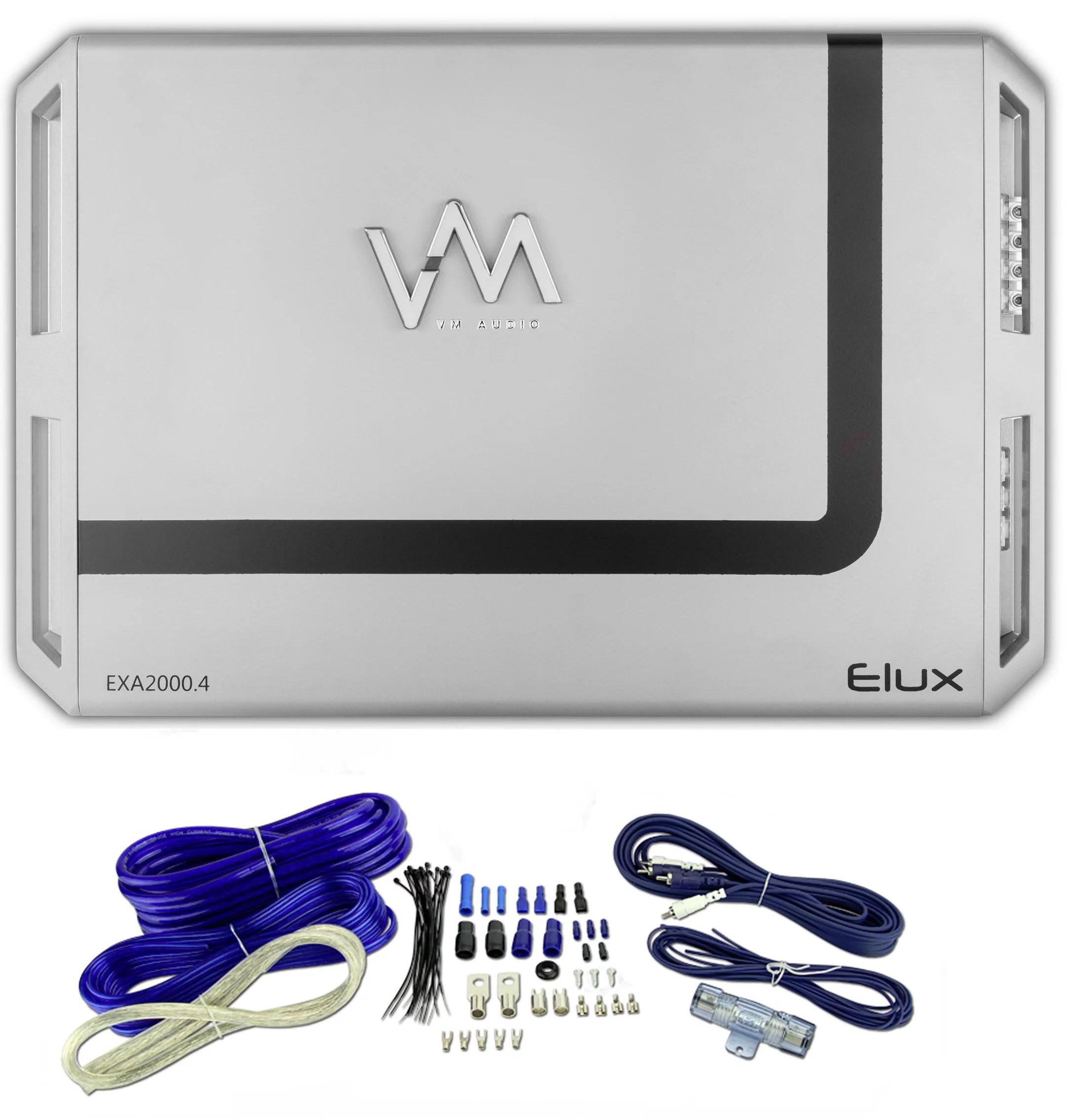 hight resolution of 1200w 5 channel car amplifier vm audio 4gauge amplifier wiring kit 4 channel amp 6 speakers diagram 5 channel car amp wiring diagram