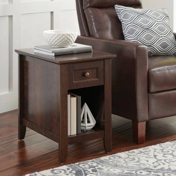 Parker Recliner Side Table Home Furnishing Indoor Decor Drawer Storage Shelf 42666033626