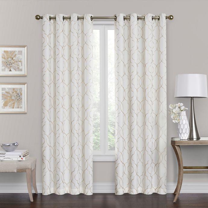 brent grommet 108 inch 100 blackout window curtain panel in ivory walmart com