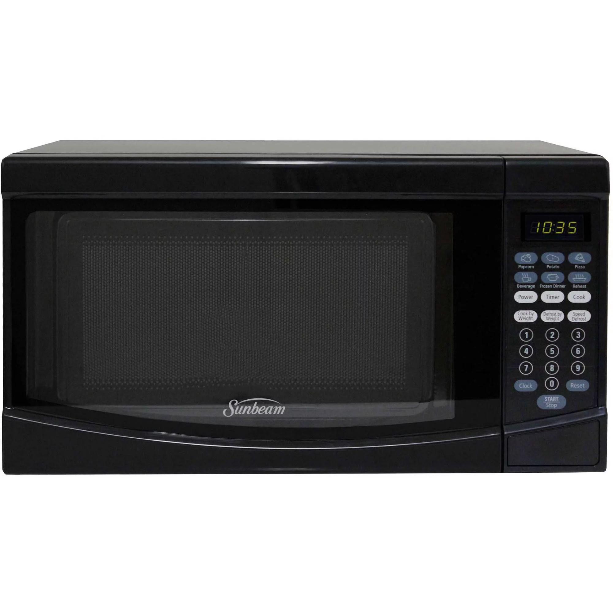 sunbeam 0 7 cuft 700 watt microwave oven sgke702 black