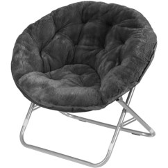 Oversized Saucer Chair Swivel Clearance Faux Fur Moon Dorm Room Lounging Furniture Seat Multiple Colors New | Ebay