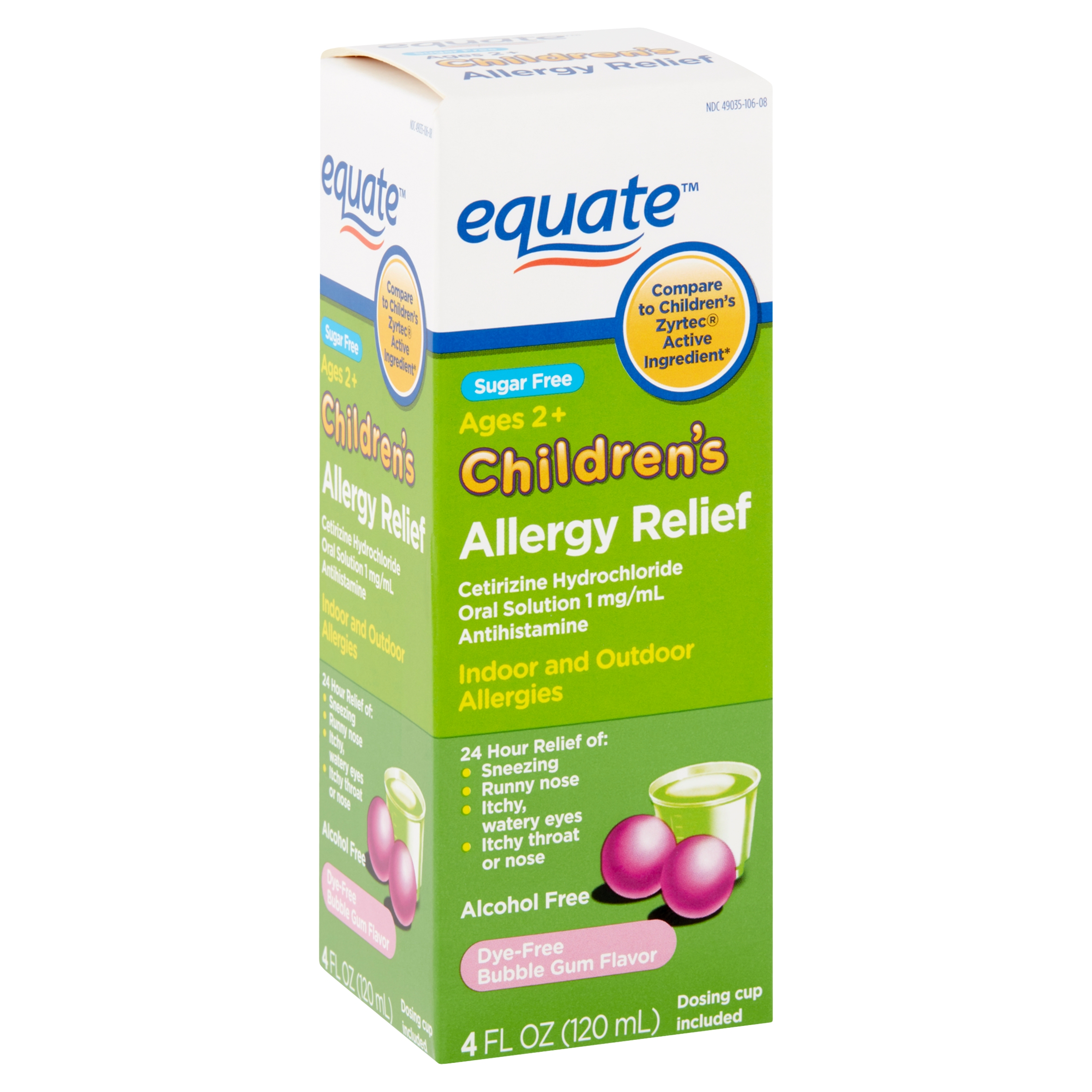 Equate Children's Allergy Relief Cetirizine HCl Oral ...