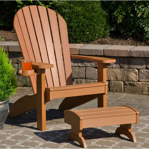 polywood adirondack chairs computer chair cover bayou breeze deniela with ottoman walmart com