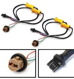 ijdmtoy 2 hyper flash bulb out error fix wiring adapters for 7443 7444 t20 led bulbs turn signal or tail brake lights walmart com [ 1500 x 1500 Pixel ]