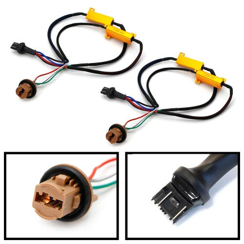 small resolution of ijdmtoy 2 hyper flash bulb out error fix wiring adapters for 7443 7444 t20 led bulbs turn signal or tail brake lights walmart com