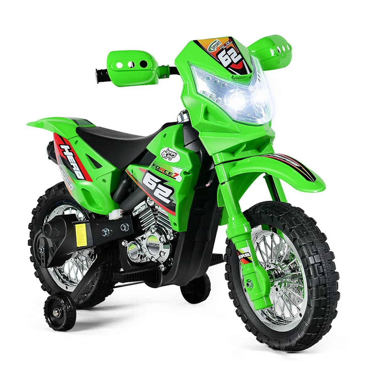 Costway Kids Ride On Motorcycle With Training Wheel 6v