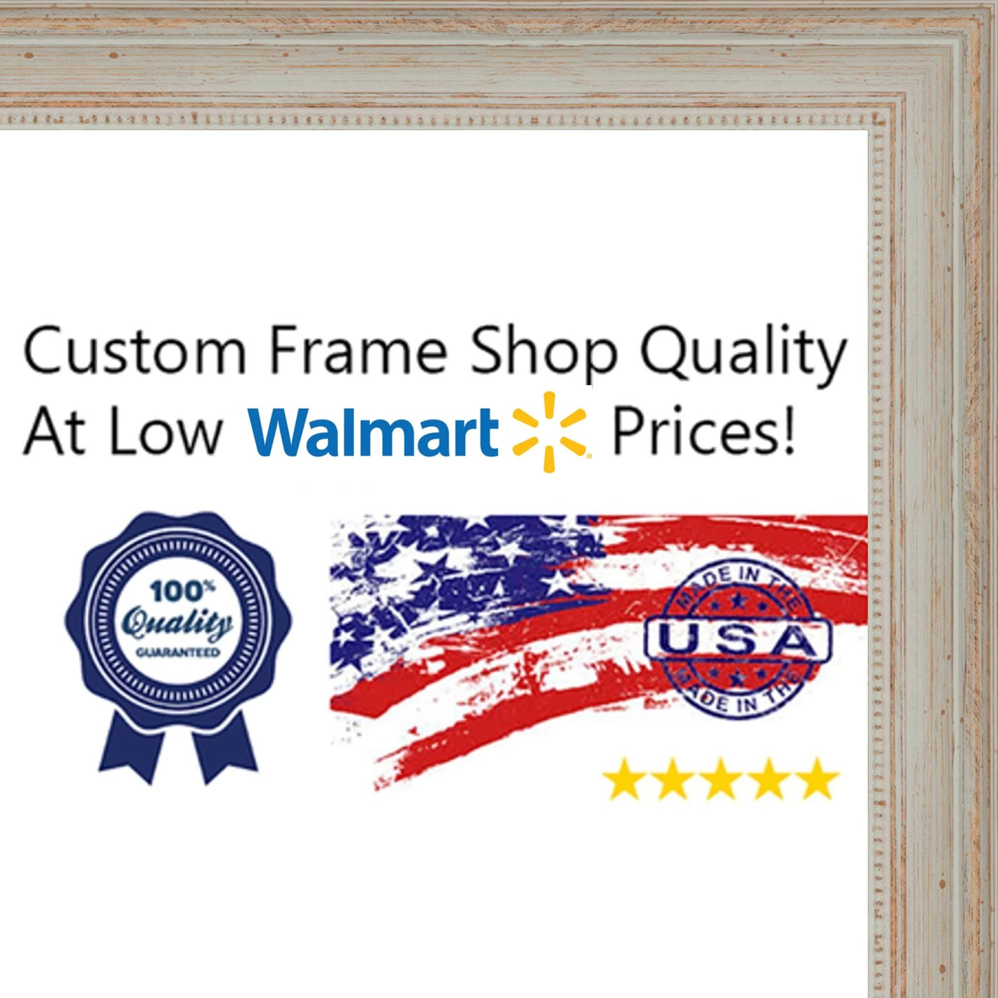 24x36 24 x 36 nautical white washed solid wood frame with uv framer s acrylic foam board backing great for a walmart com