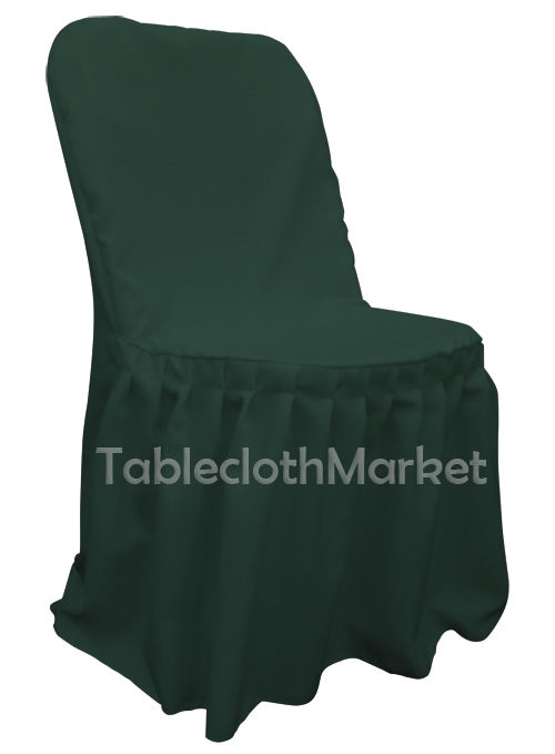 party decorations chair covers convertible bed with arms pleated polyester wedding folding 24 colors color hunter green count 10 walmart com