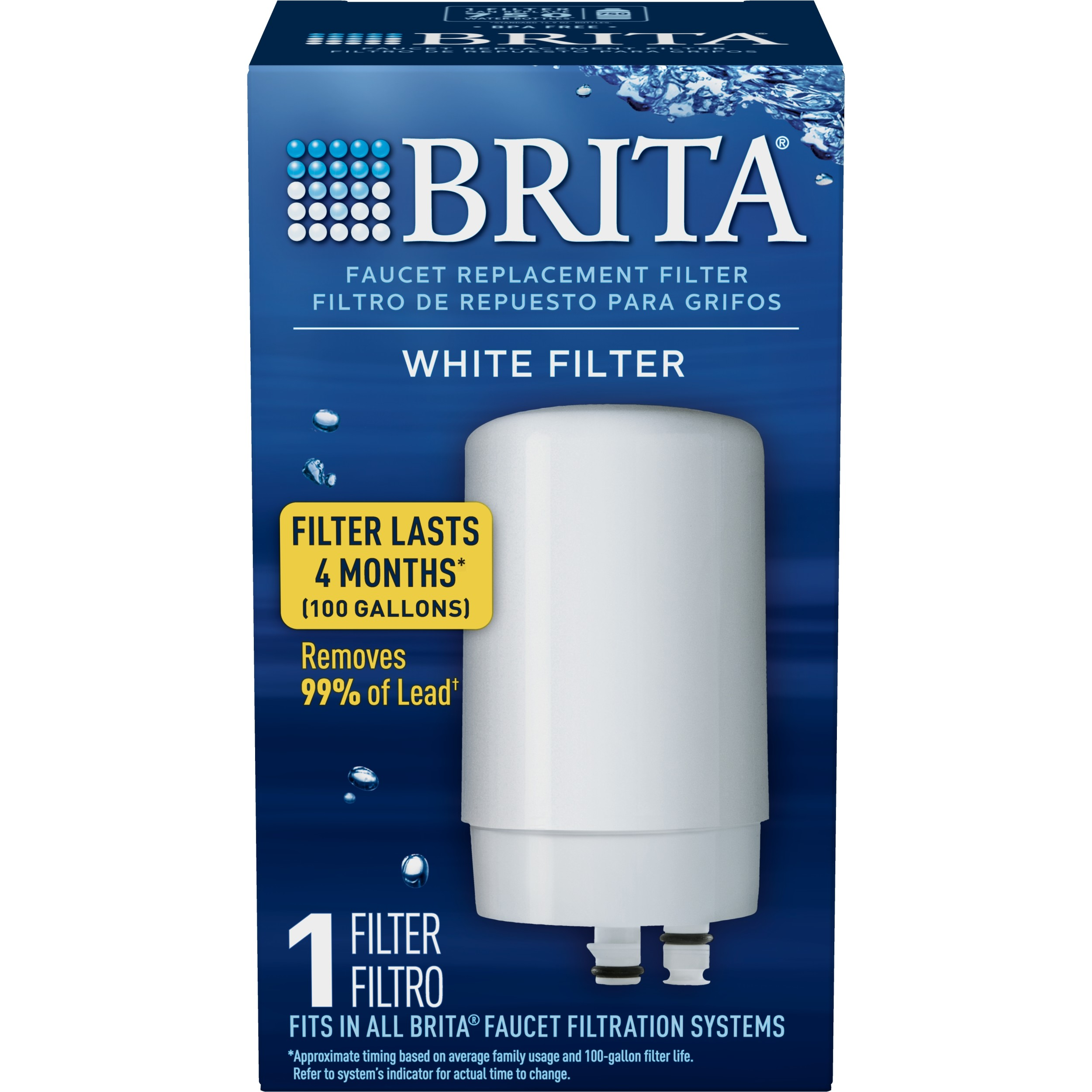 brita tap water faucet filter replacement 1 count white