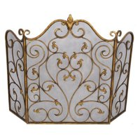 Old World Design Vivian Traditional Scroll Fireplace ...