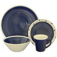 Sango Rico Blue 16-piece Dinnerware Set - Walmart.com