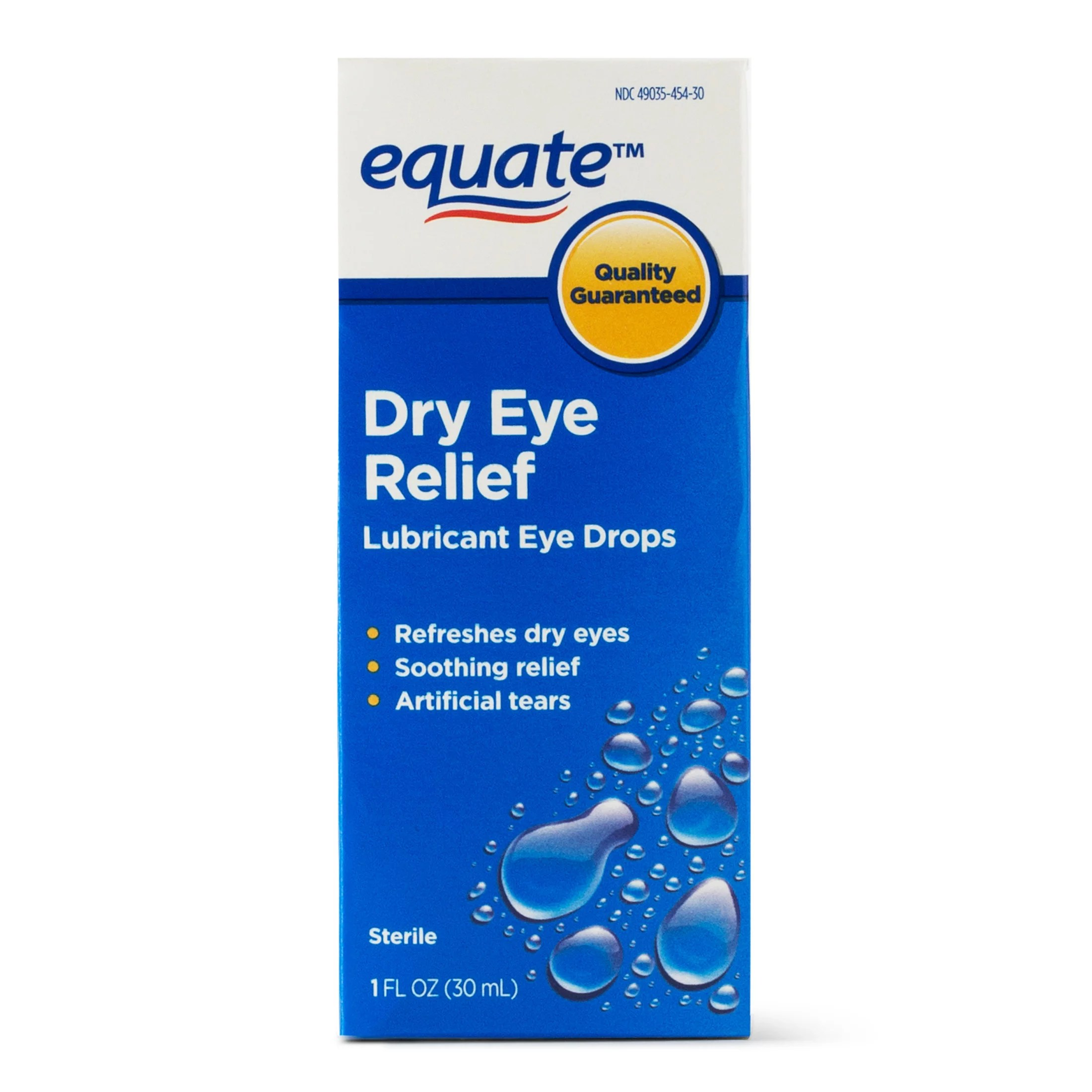 Equate Lubricant Eye Drops for Dry Eye Relief 1 oz ...