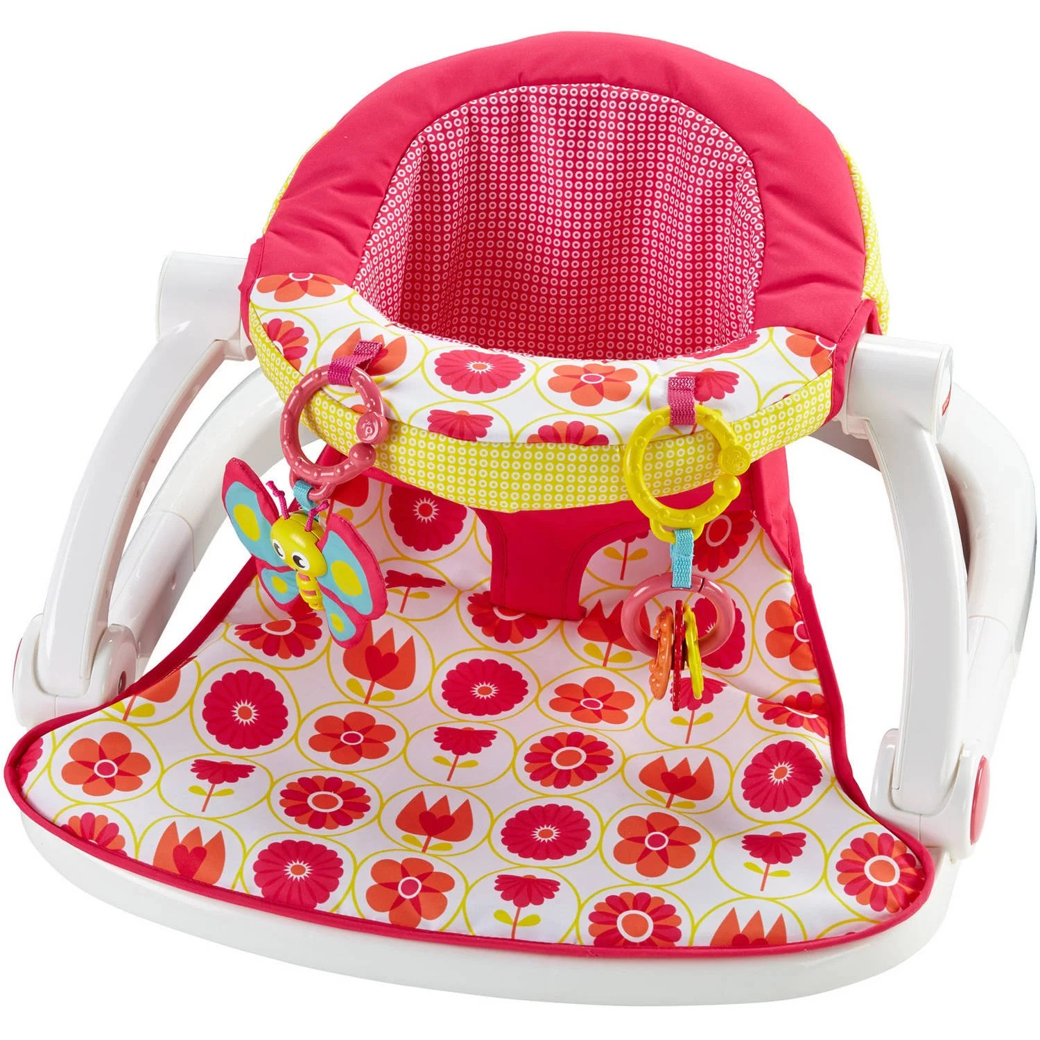 Fisher Price Sit Me Up Floor Seat Girl Toys Pink Baby Seat