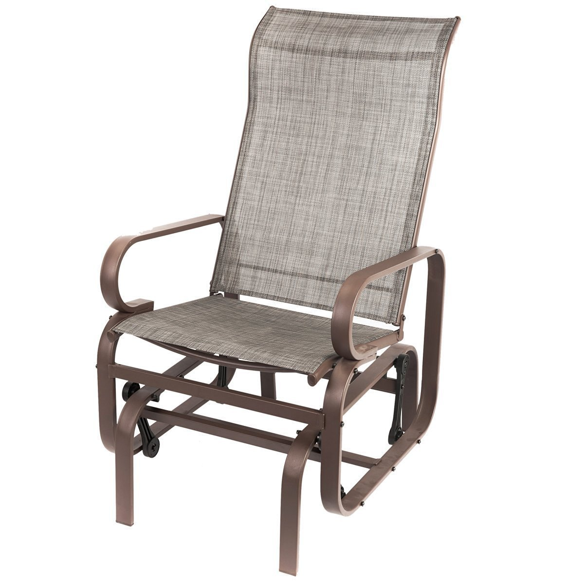 rocker glider chair minnie mouse high banner naturefun outdoor patio balcony rocking lounge all weatherproof gray walmart com