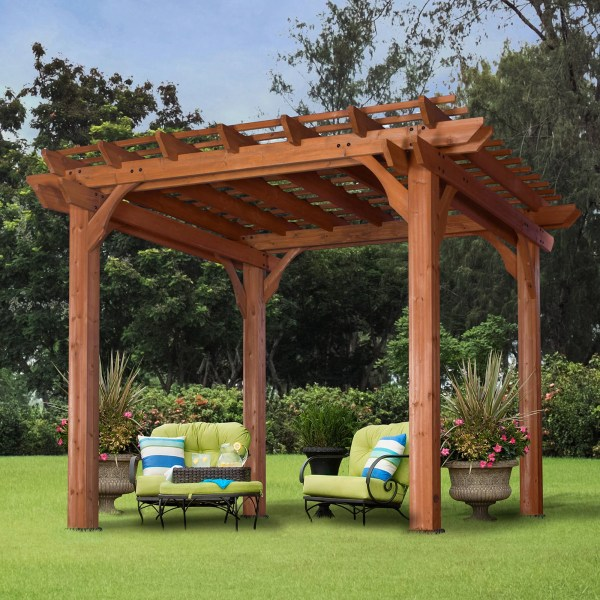 Backyard Discovery 10' X Cedar Pergola Brown