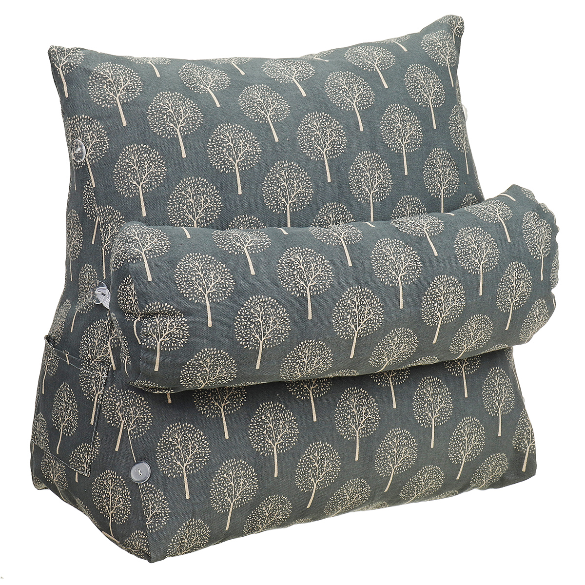 backrest pillow back cushion reading pillow bed wedge adult backrest lounge cushion with pockets back support for sitting up in bed couch wedge