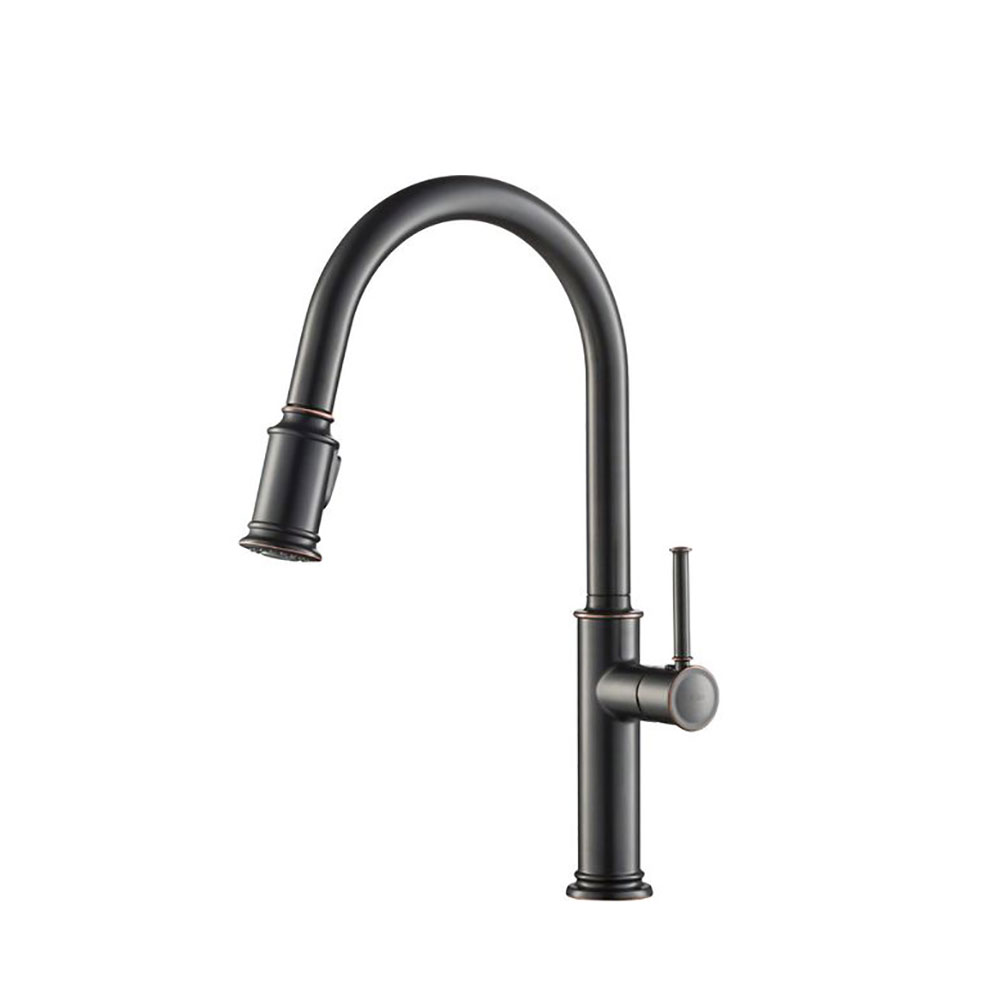 kitchen sink faucet installation kraus sellette single pull down handle oil qty