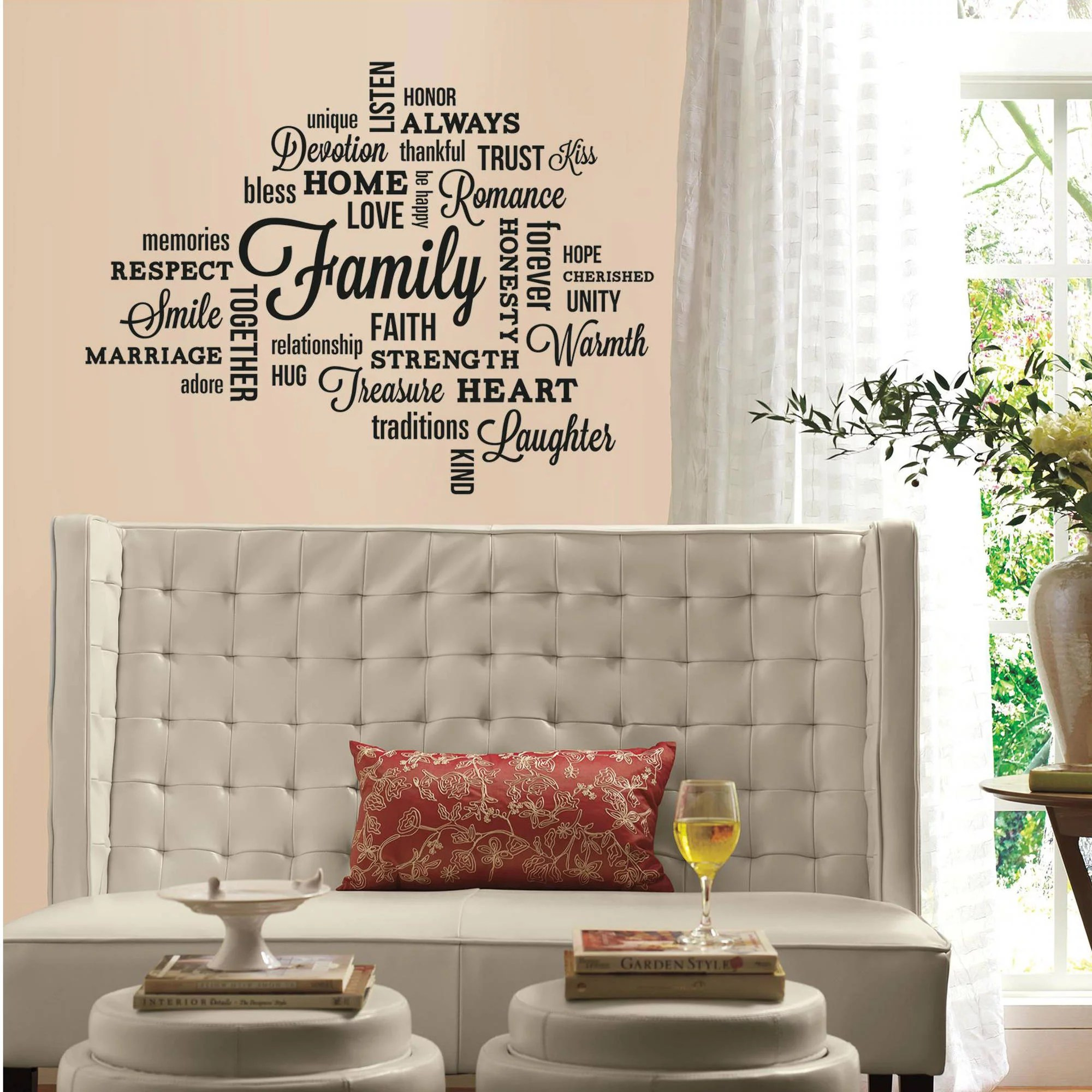 Family Quote Peel And Stick Wall Decals Walmart