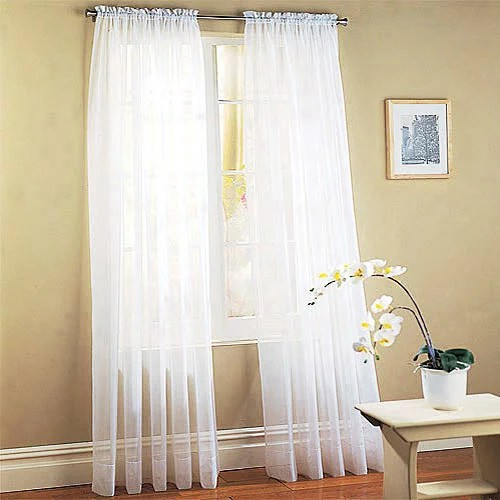 Mainstays Marjorie Sheer Voile Curtain Panel Walmart Com