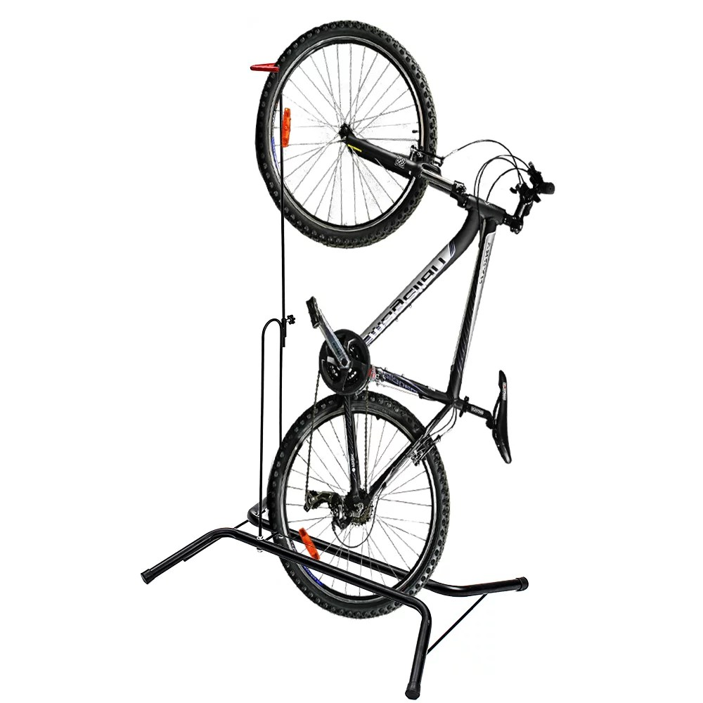 bike stand vertical bike rack upright bicycle floor stand free standing bike garage rack for indoor mountain road bike storage saving space