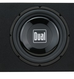 dual electronics tbx10a 10 inch shallow high performance powered enclosed subwoofer with built in amplifier 300 watts of peak power walmart com [ 3000 x 2234 Pixel ]